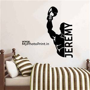 Personalized Name Boxing Wooden Wall Decoration