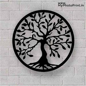 Simple Tree of Life Metal Wall Art Wooden Wall Decoration