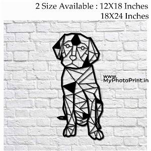 Dog Wooden Wall Decoration