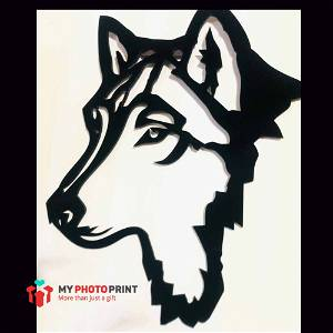 Wolf Head Wooden Wall Decoration
