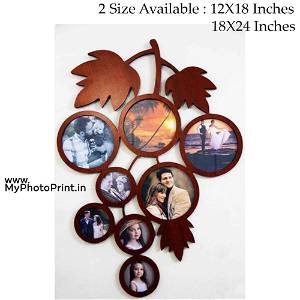 Personalized Tree Wooden Photo Frame Collage 8 Photos