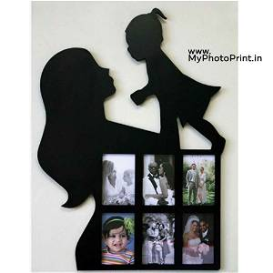 Mother Daughter Wooden Photo Frame Collage 6 Photos
